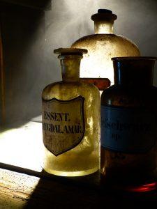 Old Glass Pharmacy Bottles (2)